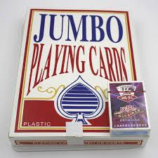קלפי משחק פלסטיק גדול ג'מבו