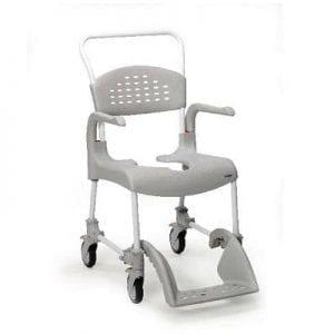 כסא רחצה ושירותים על גלגלים דגם קלין טלסקופי