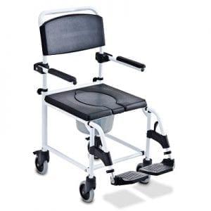 כסא רחצה ושירותים נוח עם גלגלים