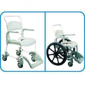 כיסא שירותים ורחצה להנעה עצמית – קלין Etac