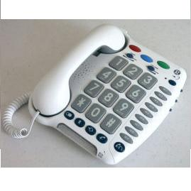 Geemarc CL200 phone with large keys and increase call