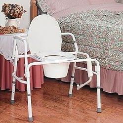 כסא שירותים עם ידיות