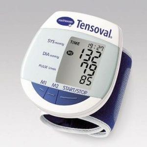 מד לחץ דם נייד למדידה על פרק כף היד.