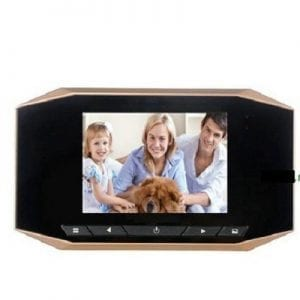 Camera door viewfinder with LCD screen including motion sensor