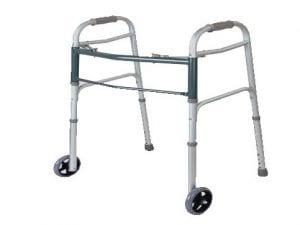 הליכון מתקפל עם גלגלים נמוך מנירוסטה