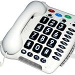 Telephone for people with hearing impairment and adults