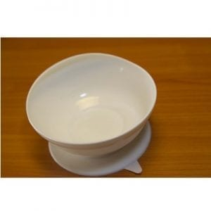 Bowl for eating with high wall