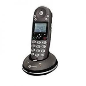 A cordless phone with an increased ringtone