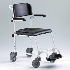 Non-self-propelled toilet and shower chair