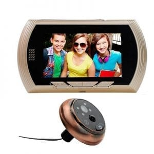 Camera door viewfinder featuring huge screen and motion sensor