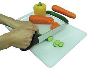 סכין חיתוך עם ידית אחיזה ארגונומית