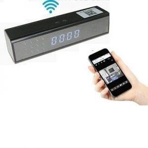מצלמת WIFI בשעון שולחני קטן