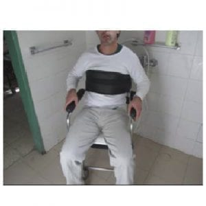 Wide chest belt for bathing chair