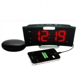 שעון מעורר חשמלי עם כרית רטט CURVE