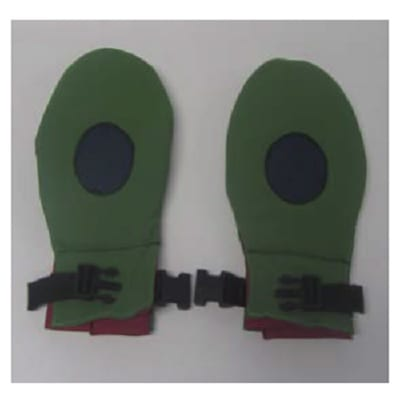Pair of hand-biting gloves