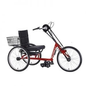 Hand-bicycles, front-wheel drive