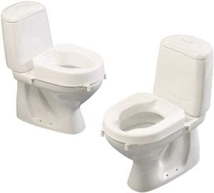 A hi-lo-clamps model toilet for quick installation