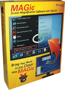 תוכנת הגדלה ודיבור Magic