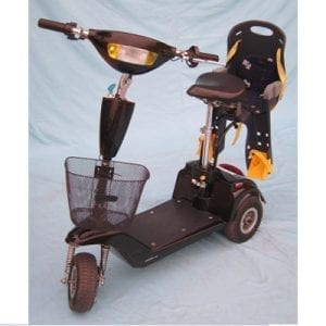 A Nova scooter from mom for driving a child
