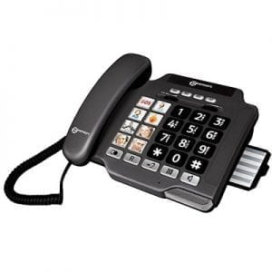 Adult phone is easy to use. Ideal for hearing-visually impaired-PHOTOPHONE100