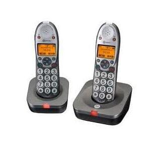 טלפון אלחוטי מוגבר בעל 2 שלוחות PT502