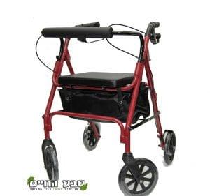רולטור 4 גלגלים קל משקל אדום