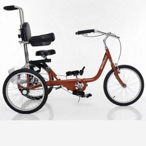 Bicycles with 3 wheels for rehabilitation with side supports