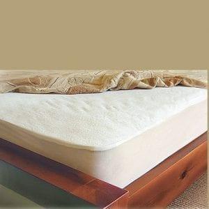 מגן מזרון מגבת שקט מיטה זוגית