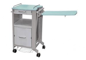 ארונית ממתכת למיטה + שולחן מתקפל דגם KBC-02-1