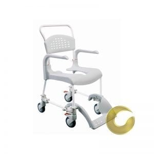 A washing chair and a portable ETAC-clean toilet