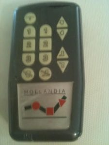Wireless bed remote for Hollandia bed