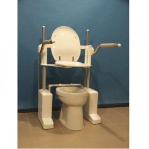 Power bench for building-vertical toilet