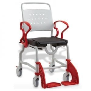 Shower chair and BERLIN toilet with wheels