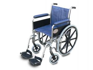 כסא גלגלים מוסדי (ידיות ורגליות פריקות)  wcds