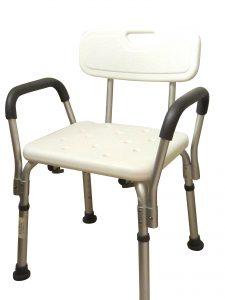 כסא מקלחת טלסקופי עם ידיות