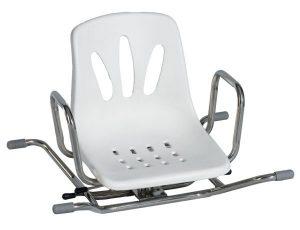 כסא מסתובב לאמבטיה עם משענת גב