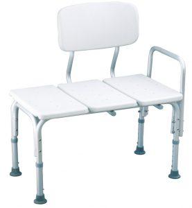 כסא העברה לאמבטיה אלומיניום עם ידית אחיזה קבועה צד ימין