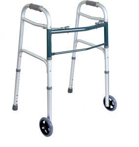 הליכון אלומיניום מתקפל עם 2 גלגלים Easy Walk