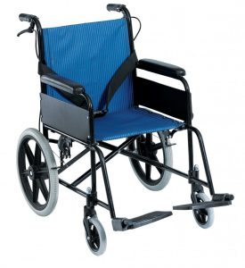 כסא העברה קל משקל עם מעצור יד למלווה Senior