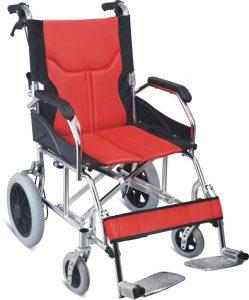 כסא גלגלים קל משקל להעברה עם מעצור יד למלווה