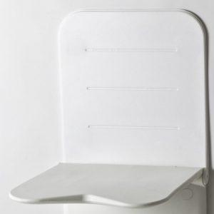 גב מרופד לקיר למושב מתקפל למקלחת