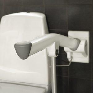 """ידית מתרוממת לשירותים 85 ס""""מ עם רגלית תמיכה"""