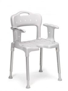 כסא רחצה למקלחת עם משענת גב וידיות Swift etac