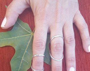 """סד אצבע מכסף 925 לטיפול בגמישות יתר באצבעות או לטיפול ב""""צוואר ברבור"""" Swan neck finger"""
