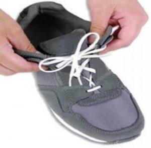 Elastic-white pair of shoelaces
