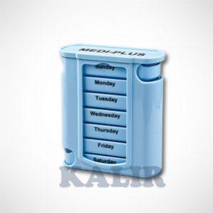 קופסת תרופות שבועית עם מגירה יומית נשלפת