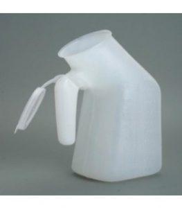 בקבוק שתן מכסה לבן