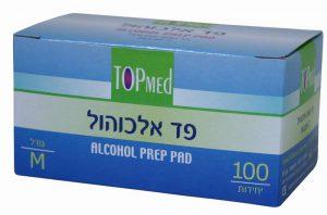 פדי אלכוהול טופמד TOPMED מאה יחידות