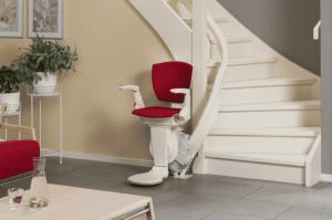 מעלון משופע כסא עם עיקול דגם אלפא