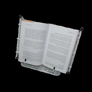מעמד לספר עם מחזיק עמודים ממתכת